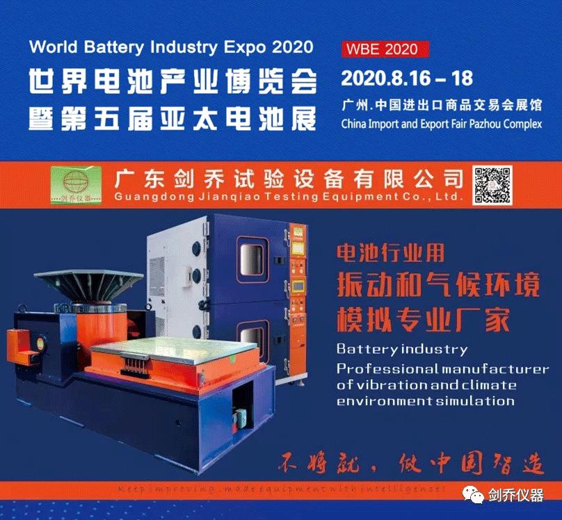 剑乔仪器参展2020世界电池产业博览会暨亚